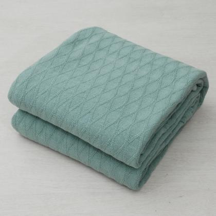 DIAMOND WEAVE PURE COTTON BED BLANKET