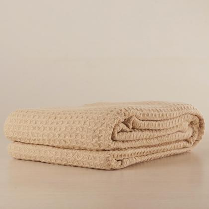 100% COTTON SOFT CLASSIC WAFFLE WEAVE BLANKET