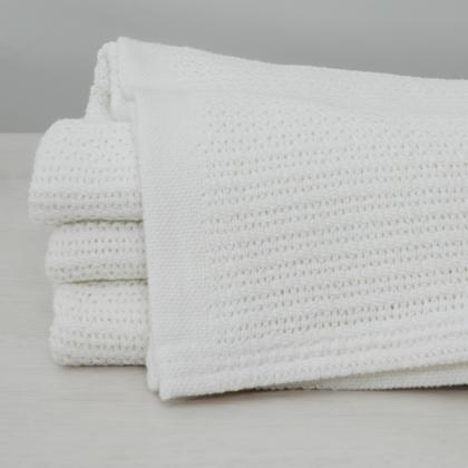 CULLULAR WEAVE COTTON THERMAL BLANKET FOR HOSPITAL USE