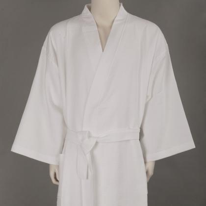 SOFT WASHED COTTON WAFFLE BATHROBE