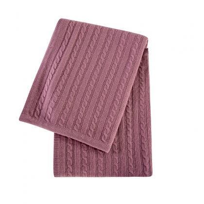 CMB-K1008 SUPER SOFT LUXURY CABLE KNIT CASHMERE BABY BLANKET
