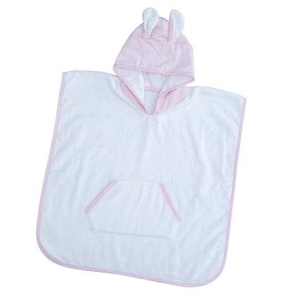 PCH-G19 100% COTTON TERRY HOODED TOWEL BABY BATH PONCHO